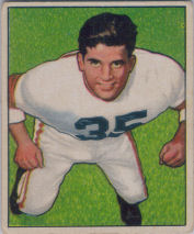 Alex Agase Rookie 1950 Bowman #7 football card