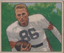 Dub Jones Rookie 1950 Bowman #117 football card