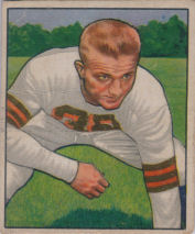 Jim Martin Rookie 1950 Bowman #44 football card