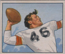 Ken Carpenter Rookie 1950 Bowman #115 football card