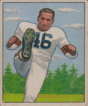 Lou Groza Rookie 1950 Bowman #6 football card