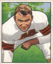 Lou Rymkus Rookie 1950 Bowman #116 football card