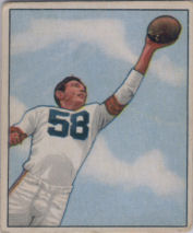 Mac Speedie Rookie 1950 Bowman #8 football card