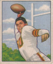 Otto Graham Rookie 1950 Bowman #45 football card