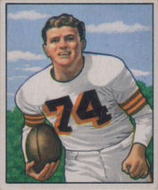 Tony Adamle Rookie 1950 Bowman #79 football card
