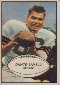 Dante Lavelli 1953 Bowman #15 football card