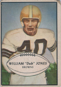 Dub Jones 1953 Bowman #46 football card