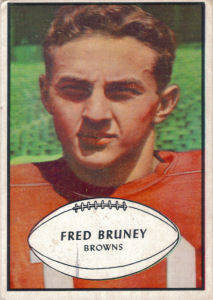 Fred Bruney Rookie 1953 Bowman #49 football card