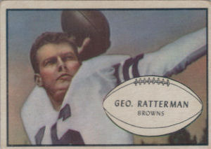 George Ratterman 1953 Bowman #85 football card