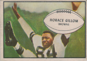 Horace Gillom 1953 Bowman #40 football card
