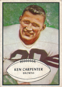 Ken Carpenter 1953 Bowman #92 football card