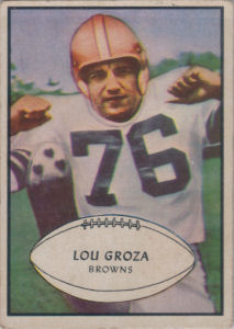 Lou Groza 1953 Bowman #95 football card