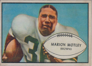 Marion Motley 1953 Bowman #9 football card