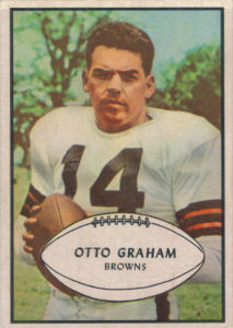 Otto Graham 1953 Bowman #26 football card