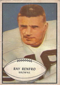 Ray Renfro Rookie 1953 Bowman #62 football card