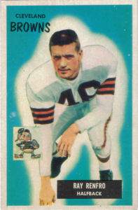 Ray Renfro 1955 Bowman #153 football card