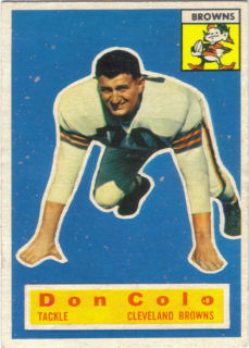Don Colo Rookie 1956 Topps #57 football card