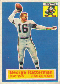 George Ratterman 1956 Topps #93 football card