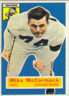 Mike McCormack 1956 Topps #105 football card