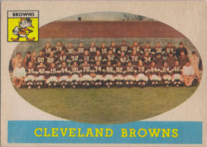 Browns Team 1958 Topps #9 football card