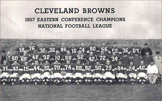 Cleveland Browns 1957 Team Photo