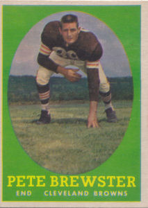 Darrel Pete Brewster Topps #11 football card