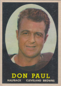 Don Paul 1958 Topps #91 football card