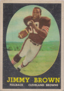 Jim Brown Rookie 1958 Topps #62 football card
