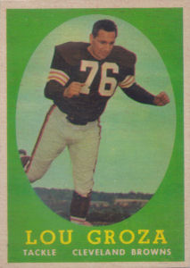 Lou Groza 1958 Topps #52 football card