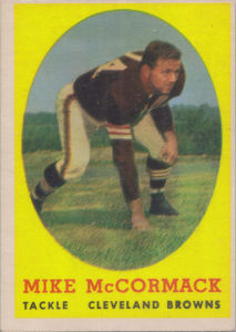 Mike McCormack 1958 Topps #59 football card