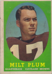 Milt Plum 1958 Rookie Topps #5 football card