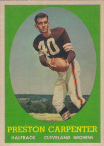 Preston Carpenter 1958 Topps #128 football card