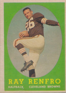 Ray Renfro Topps #17 football card