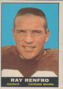 Ray Renfro 1961 Topps #69 football card