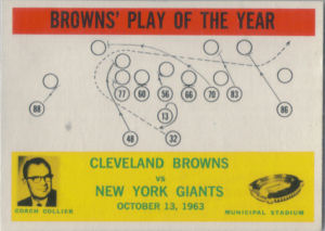 Browns Play of the Year 1964 Philadelphia #42 football card