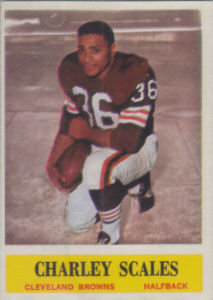 Charley Scales Rookie 1964 Philadelphia #39 football card