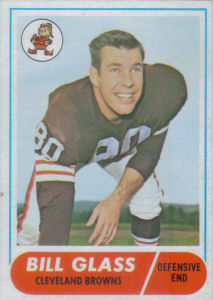 Bill Glass 1968 Topps #154 football card
