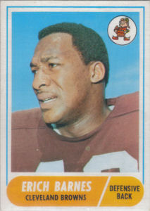 Erich Barnes 1968 Topps #102 football card