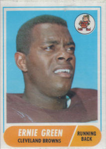 Ernie Green 1968 Topps #24 football card