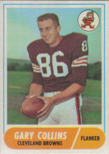 Gary Collins 1968 Topps #128 football card