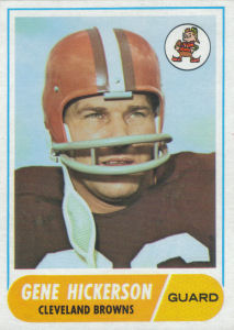 Gene Hickerson 1968 Topps #76 football card