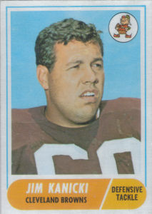 Jim Kanicki Rookie 1968 Topps #180 football card