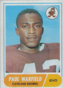Paul Warfield 1968 Topps #49 football card