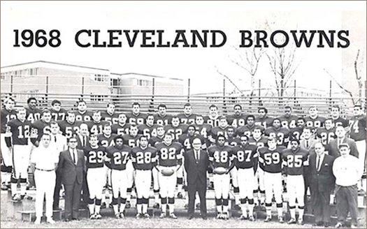 Cleveland Browns 1968 Team Photo