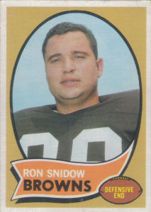 Ron Snidow Rookie 1970 Topps #194 football card