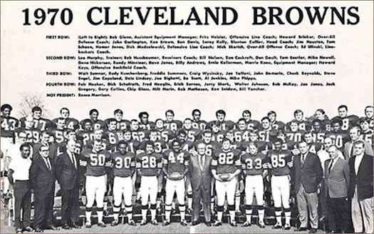 Cleveland Browns 1970 Team Photo