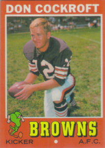 Don Cockroft Rookie 1971 Topps #193 football card