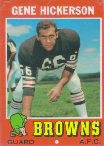 Gene Hickerson 1971 Topps #36 football card