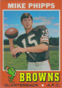 Mike Phipps Rookie 1971 Topps #131 football card