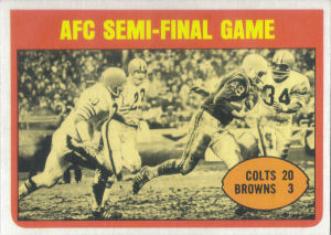 AFC Semifinal Game 1972 Topps #135 football card